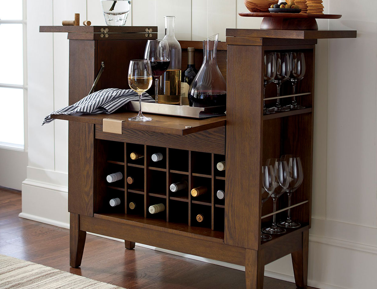 parker spirits ebony cabinet; image used for HSBC Philippines Credit Card crate and barrel offers page