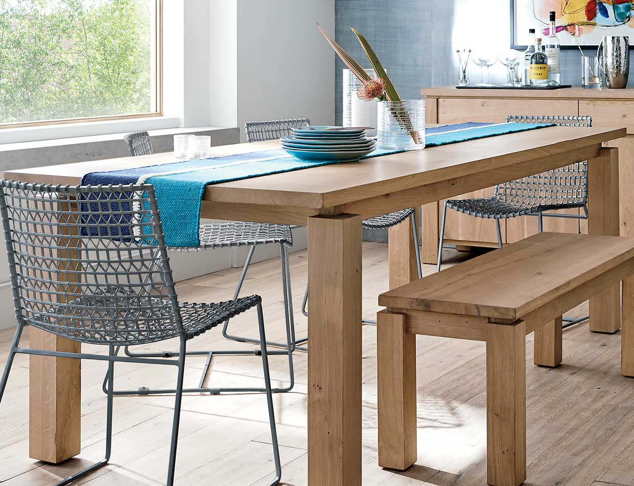 Walker dining table; image used for HSBC Philippines Credit Card Offers Crate and Barrel page